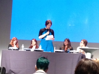 Jen Myers, Jessica Ivins, Rachel Nabors, Alaina Kraus and Gemma Petrie on the Women in UX Panel at Midwest UX 2012
