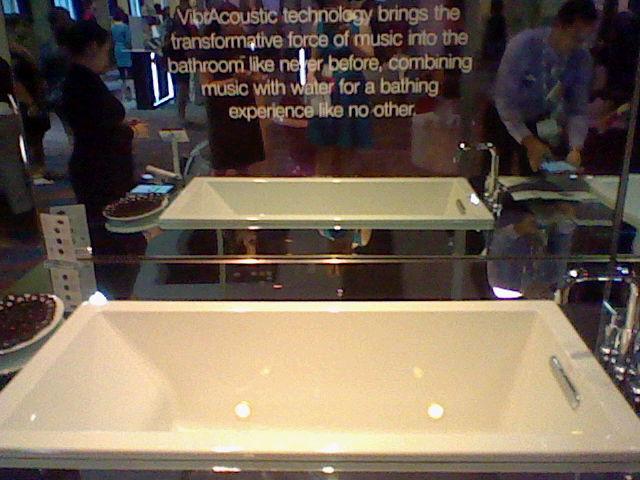 A bath tub that plays music