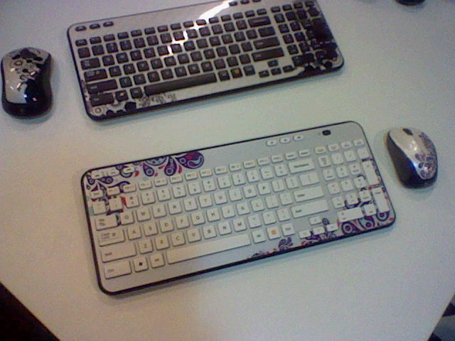 Fancy patterned Logitech keyboards